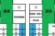 火车靠窗座位号分布图